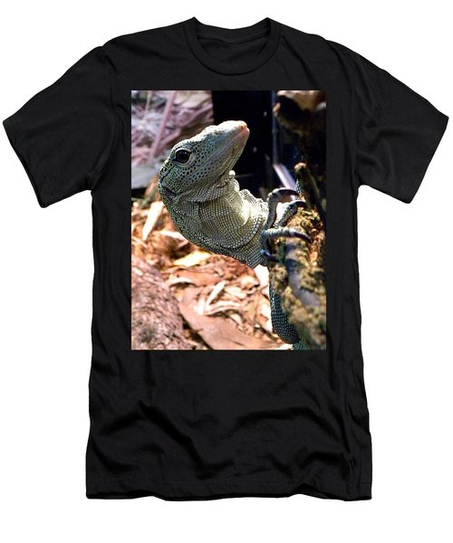 Monitor Lizard 002 Men's T-Shirt (Slim Fit) by Chris Mercer