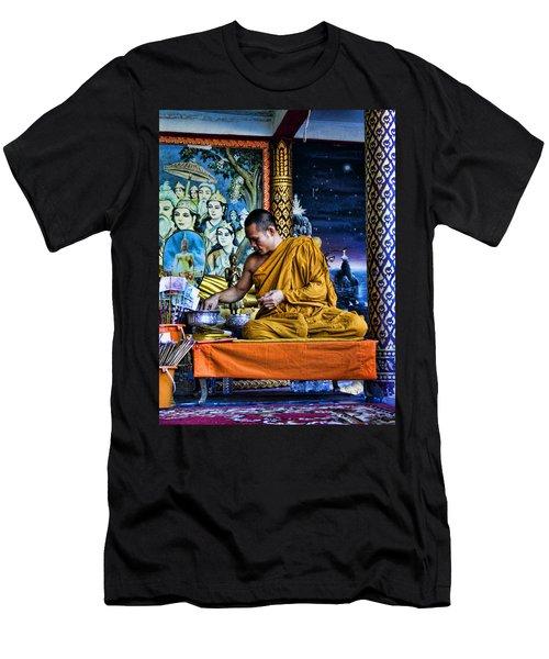 Monk At Big Buddha  Men's T-Shirt (Athletic Fit)