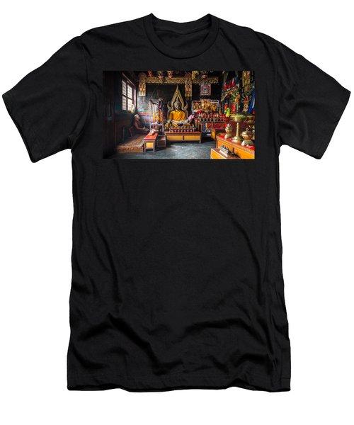 Kathmandu Monk Men's T-Shirt (Slim Fit) by Marty Garland