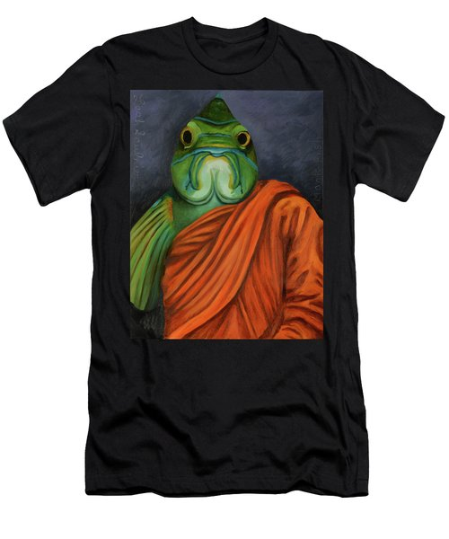 Monk Fish Men's T-Shirt (Slim Fit) by Leah Saulnier The Painting Maniac