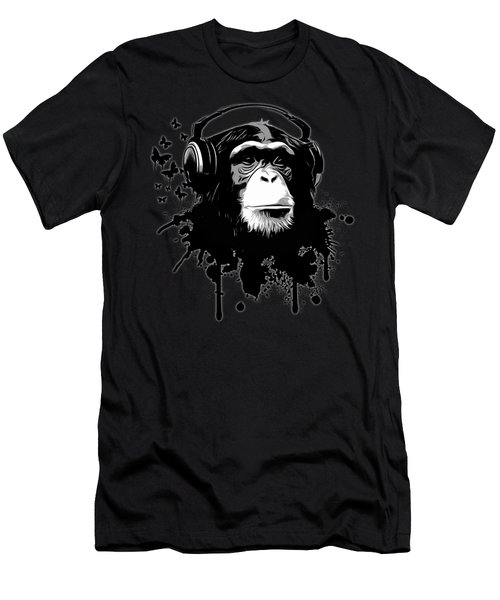 Monkey Business - Black Men's T-Shirt (Slim Fit) by Nicklas Gustafsson