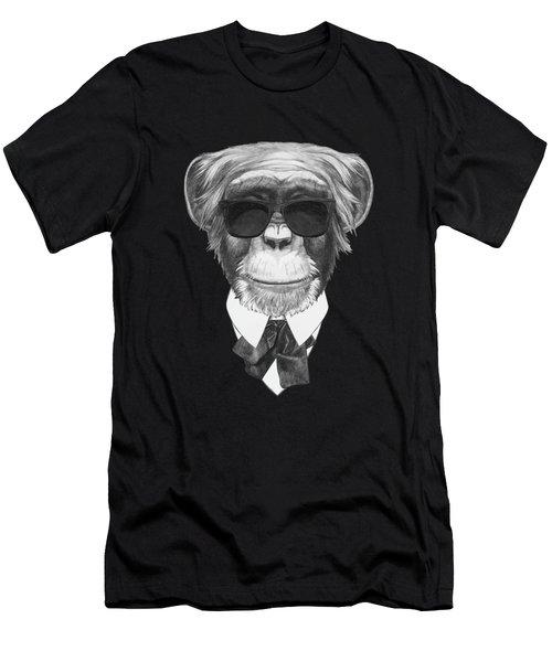 Monkey In Black Men's T-Shirt (Athletic Fit)