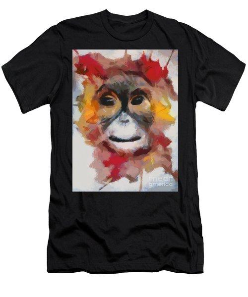 Monkey Splat Men's T-Shirt (Athletic Fit)