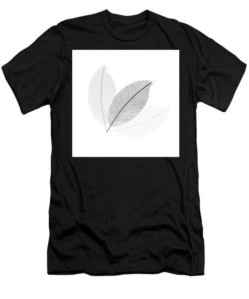Monochrome Leaves Men's T-Shirt (Athletic Fit)