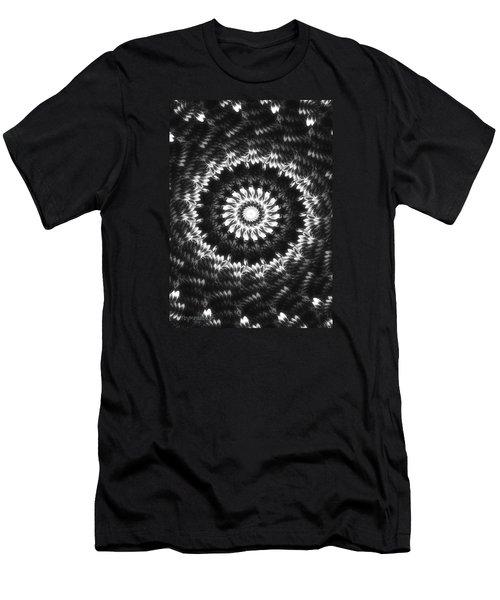 Monochrome Petals Mandala Men's T-Shirt (Slim Fit) by Mimulux patricia no No