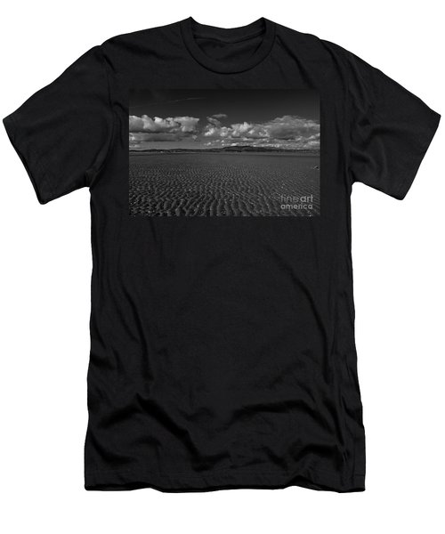Monochrome Sand Ripples Men's T-Shirt (Athletic Fit)