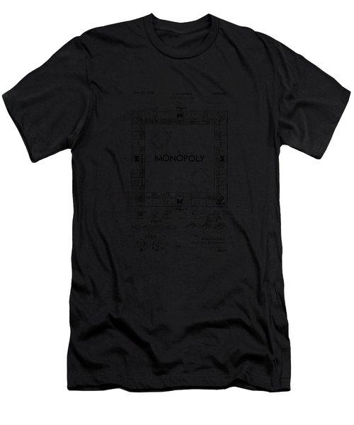 Monopoly Original Patent Art Drawing T-shirt Men's T-Shirt (Athletic Fit)