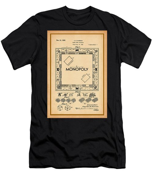 Monopoly Patent Drawing Men's T-Shirt (Athletic Fit)