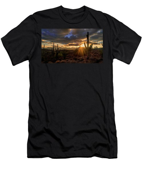 Monsoon Sunburst Men's T-Shirt (Athletic Fit)