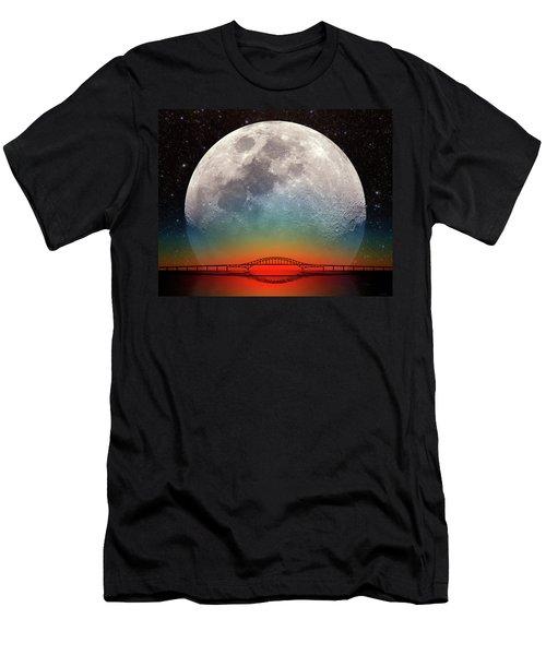 Monster Moonrise Men's T-Shirt (Athletic Fit)