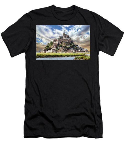 Men's T-Shirt (Athletic Fit) featuring the photograph Mont Saint-michel by Anthony Dezenzio