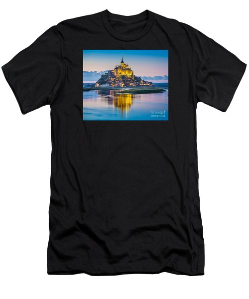 Mont Saint-michel In Twilight Men's T-Shirt (Athletic Fit)
