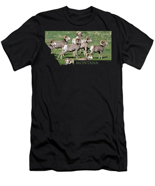 Montana -bighorn Rams Men's T-Shirt (Athletic Fit)