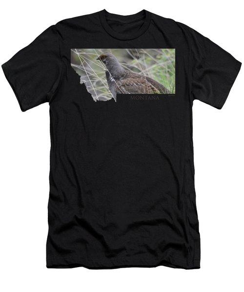 Montana- Dusky Grouse Men's T-Shirt (Athletic Fit)