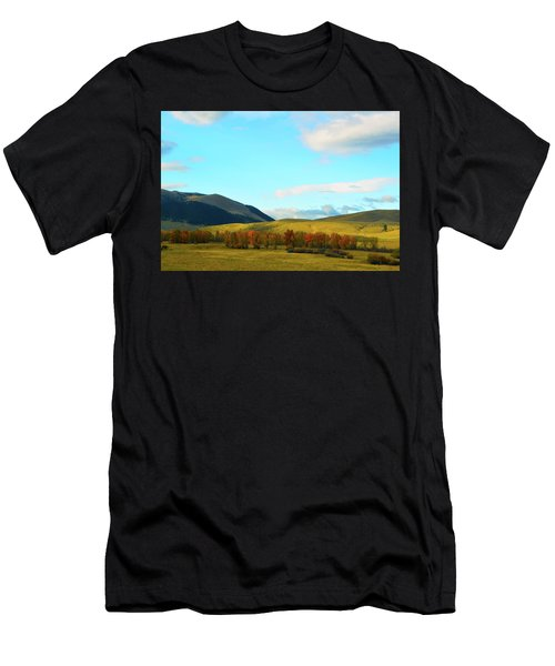 Montana Fall Trees Men's T-Shirt (Athletic Fit)