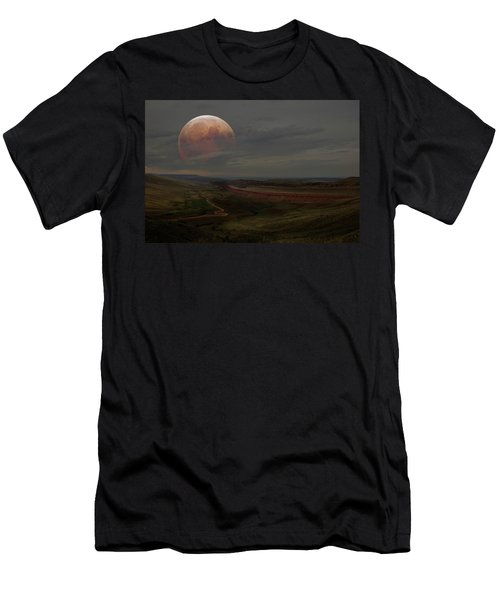 Montana Landscape On Blood Moon Men's T-Shirt (Athletic Fit)