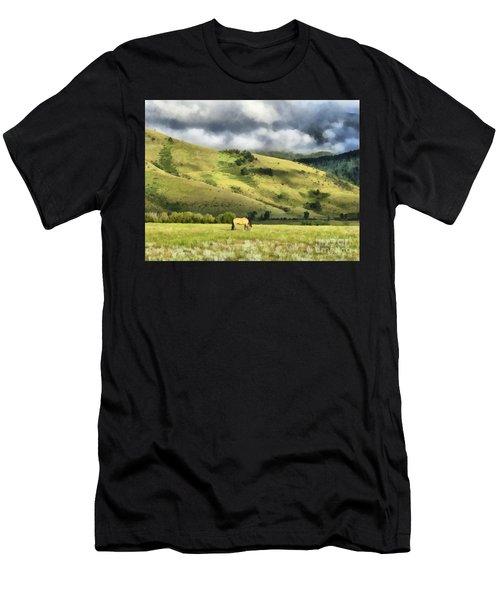 Montana Ranch Landscape Men's T-Shirt (Athletic Fit)