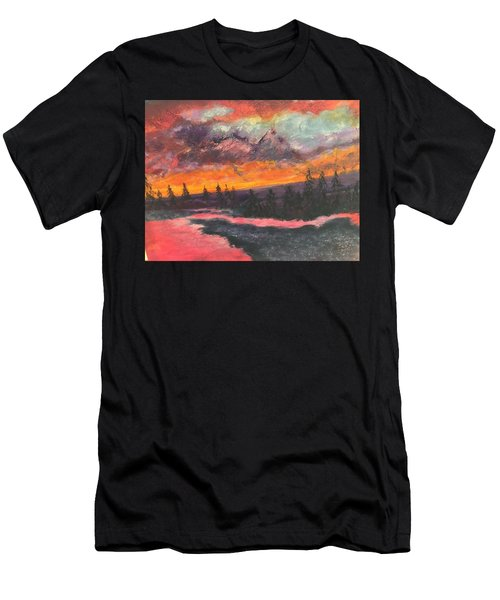 Montana Sunset Men's T-Shirt (Athletic Fit)