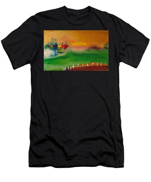 Montauk Marina Men's T-Shirt (Athletic Fit)