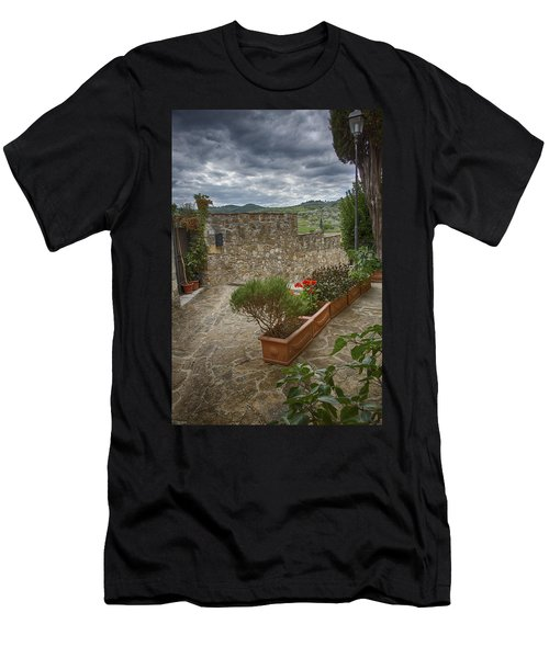 Montefioralle Tuscany 4 Men's T-Shirt (Athletic Fit)