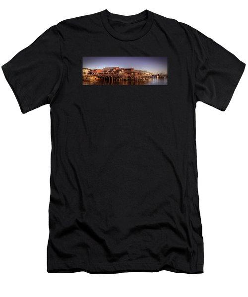 Monterey Wharf Men's T-Shirt (Athletic Fit)