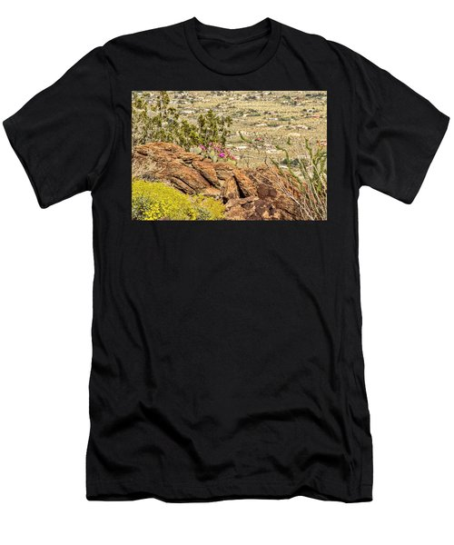 Montezuma Rd Cliff Side Flower Garden Men's T-Shirt (Athletic Fit)