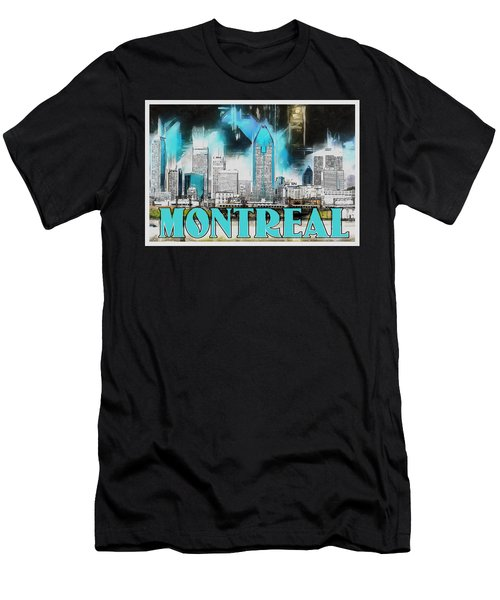 Montreal Lights Men's T-Shirt (Slim Fit) by Kai Saarto