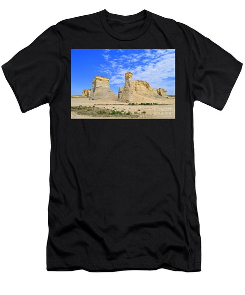 Monument Rocks In Kansas 2 Men's T-Shirt (Athletic Fit)