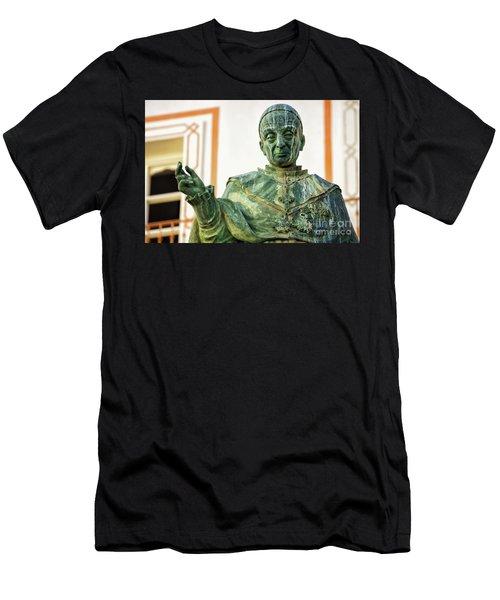 Men's T-Shirt (Athletic Fit) featuring the photograph Monument To Fray Domingo De Silos Morenos Cadiz Spain by Pablo Avanzini