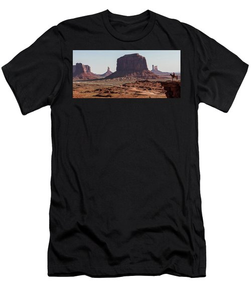 Monument Valley Man On Horse Sunrise  Men's T-Shirt (Athletic Fit)