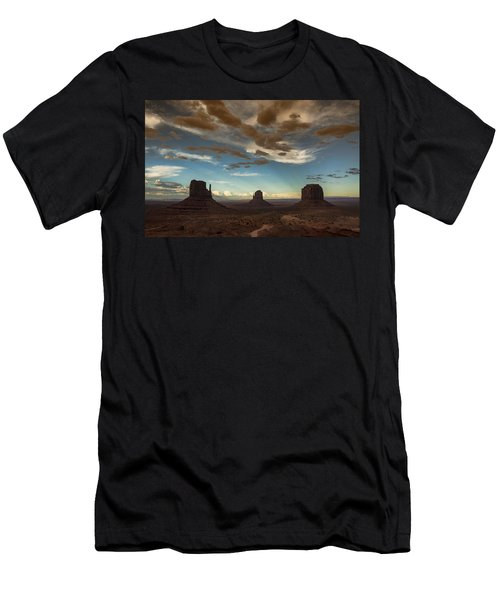 Monument Valley Style Sunset  Men's T-Shirt (Athletic Fit)