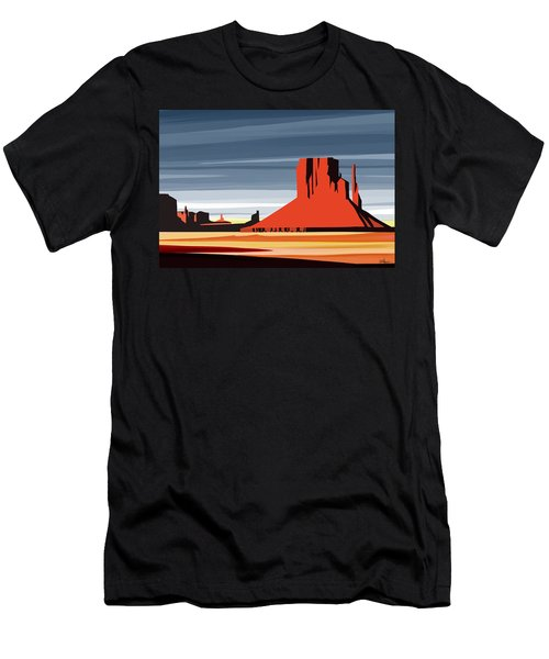 Monument Valley Sunset Digital Realism Men's T-Shirt (Athletic Fit)