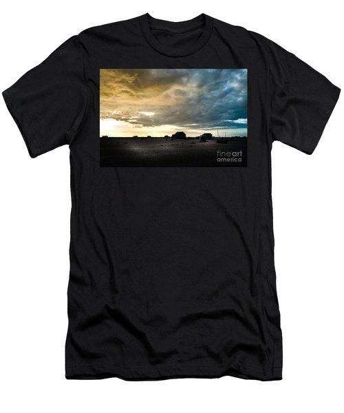 Moody Sky, Dungeness Beach  Men's T-Shirt (Athletic Fit)