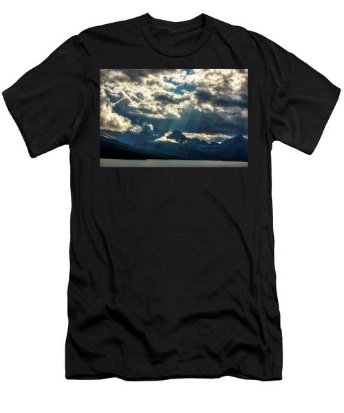 Moody Sunrays Over Glacier National Park Men's T-Shirt (Athletic Fit)