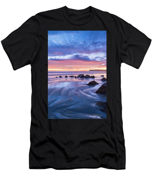 Moon Above Men's T-Shirt (Athletic Fit)