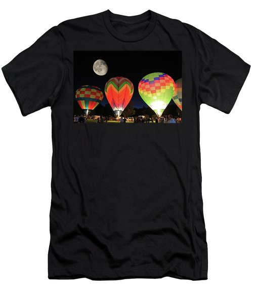 Moon And Balloons Men's T-Shirt (Athletic Fit)