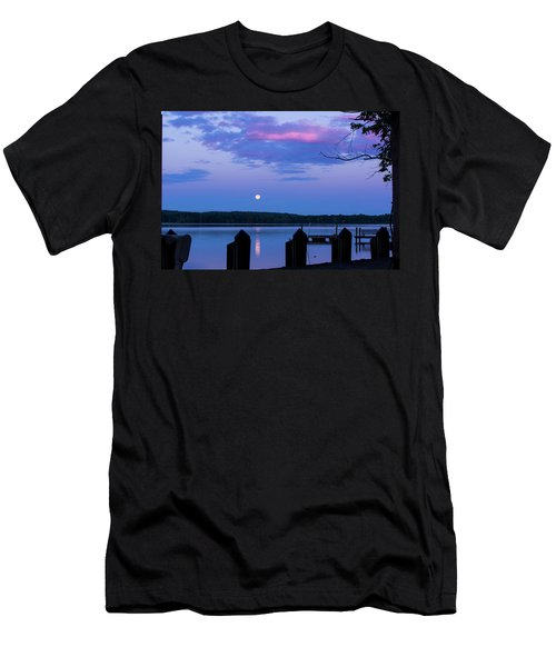 Moon And Pier Men's T-Shirt (Athletic Fit)
