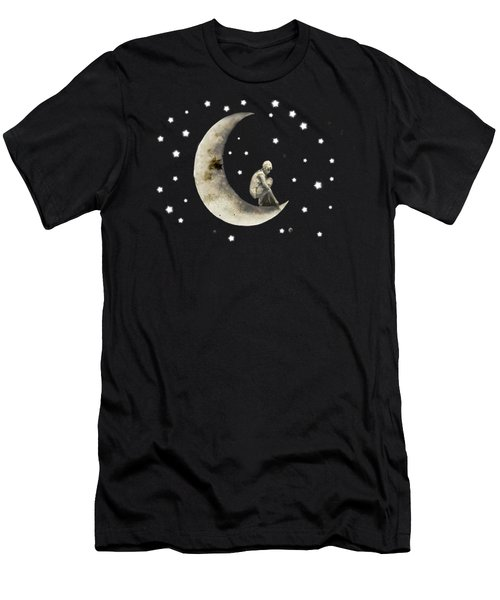 Moon And Stars T Shirt Design Men's T-Shirt (Slim Fit) by Bellesouth Studio