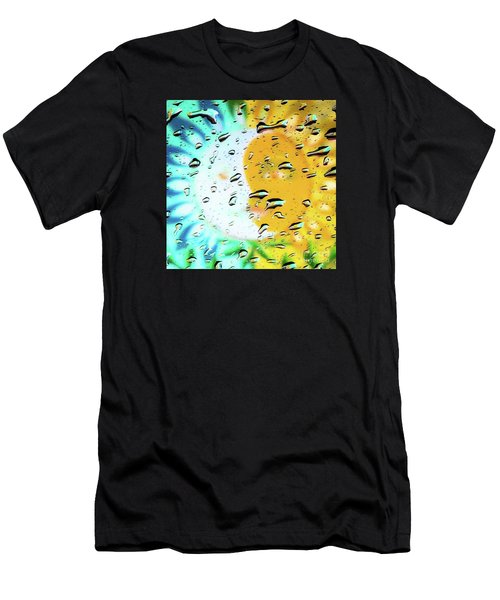 Moon And Sun Rainy Day Windowpane Men's T-Shirt (Athletic Fit)