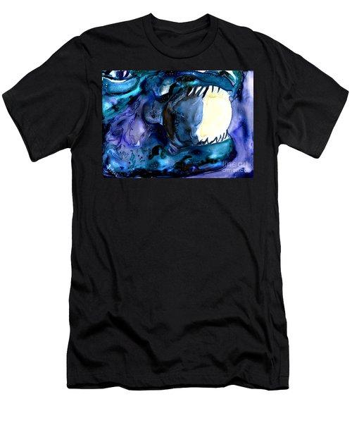 Moon Eater Dragon Lunar Eclipse Men's T-Shirt (Athletic Fit)