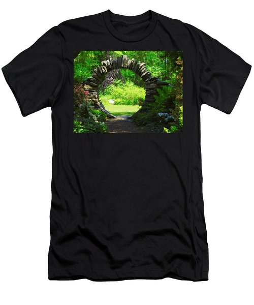 Moon Gate At Kinney Azalea Gardens Men's T-Shirt (Athletic Fit)