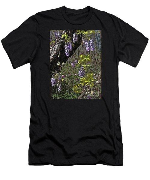 Moon Glow Wisteria Men's T-Shirt (Slim Fit) by Patricia L Davidson