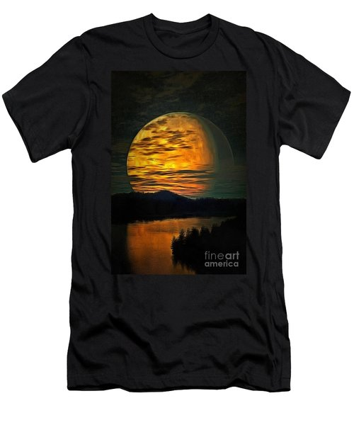 Moon In Ambiance Men's T-Shirt (Athletic Fit)