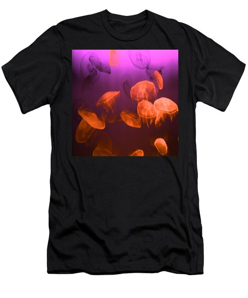 Moon Jellyfish - Red And Purple Men's T-Shirt (Athletic Fit)