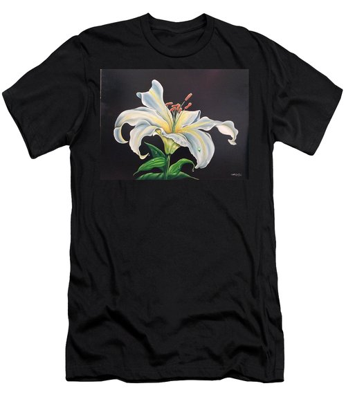 Moon Light Lilly Men's T-Shirt (Athletic Fit)