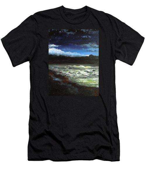 Moon Lit Sea Men's T-Shirt (Slim Fit) by Dan Whittemore