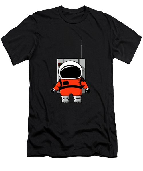 Moon Man Men's T-Shirt (Slim Fit) by Nicholas Ely