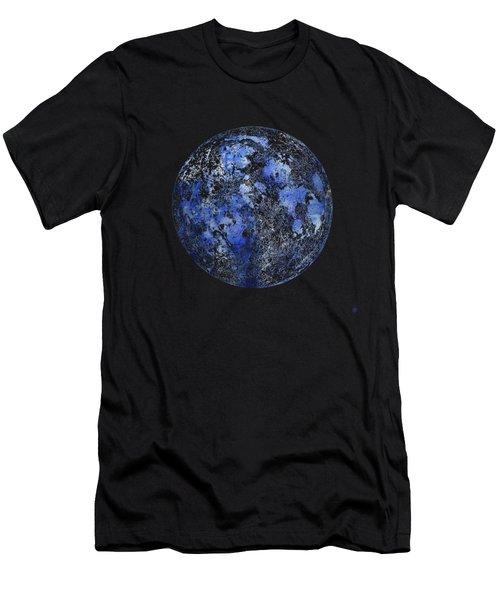 Moon Map Men's T-Shirt (Athletic Fit)