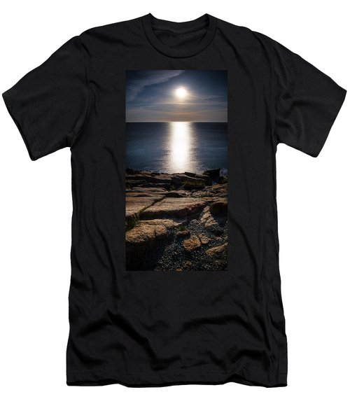 Moon Over Acadia Shores Men's T-Shirt (Athletic Fit)
