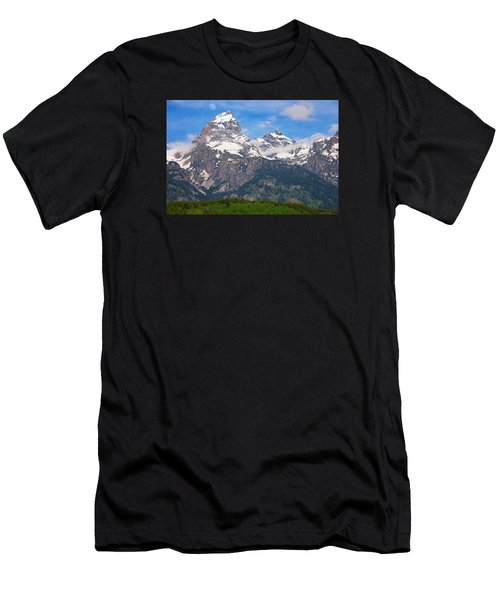 Moon Over The Tetons Men's T-Shirt (Athletic Fit)